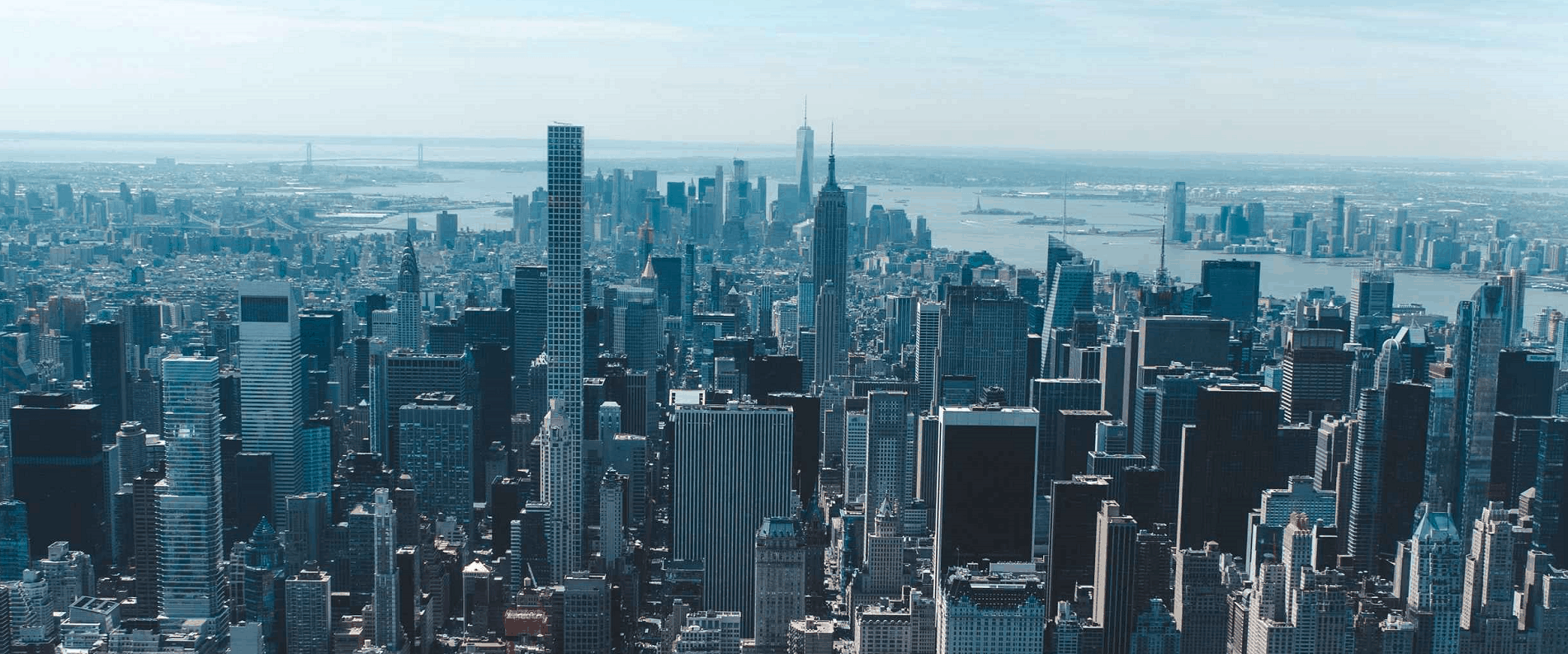 aerial view of new york city for digital pr case study